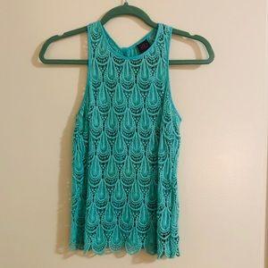 2B Bebe turquoise sleeveless blouse